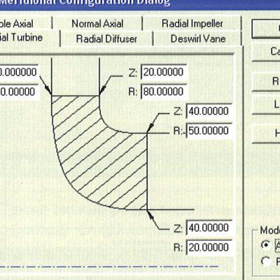 Шаблон для центростремительной турбины
