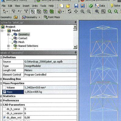 Задание массы конструкции как целевой функции