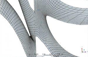 Рис. 1. Пример сетки для турбинной ступени