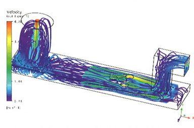 Рис. 11. Траектории движения частиц концентрата