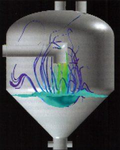 Рис. 3. Доработанная с помощью CFD конструкция испарителя